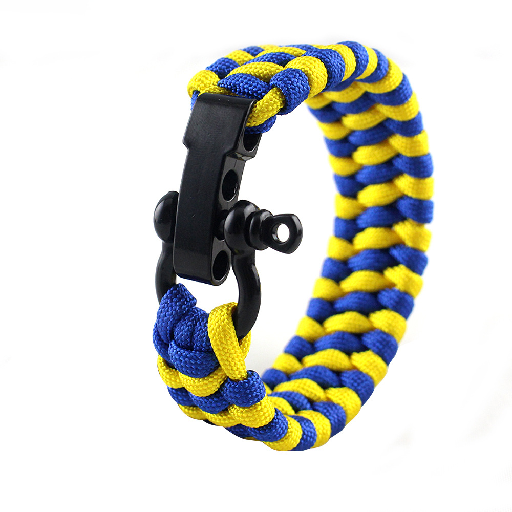 23cm Outdoor Survival Multi-function Bracelet Artificial Braided Nylon Hand Rope Climbing Camping Emergency Rescue Paracord