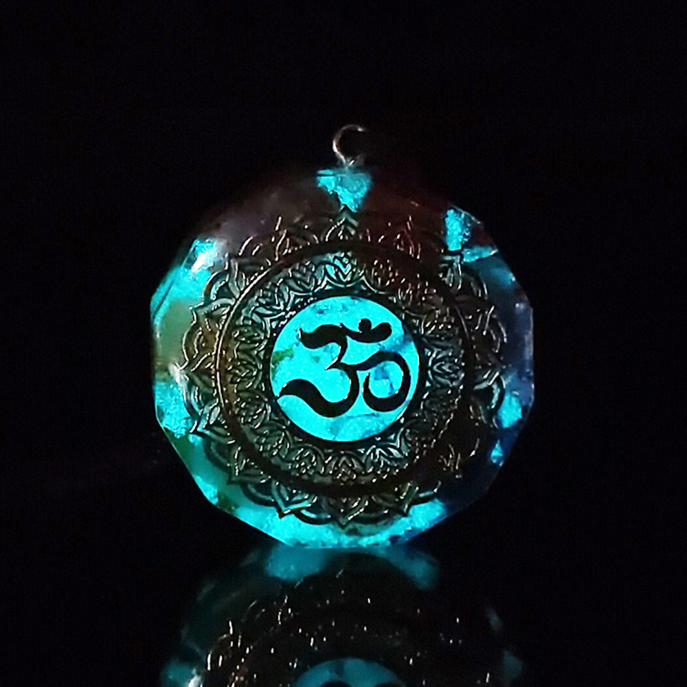 Om Symbol Orgonite Luminous Energy Pendant Natural Crystal Chakra Orgon Energizing Necklace Absorbs Negative Healing Jewelry|Pendant Necklaces| - AliExpress
