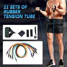 17pcs/set Yoga Band Tube Resistance Bands Set Fitness Exercises Latex Tubes Pedal Excerciser Body Training