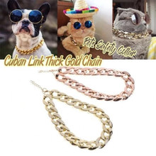 Cuban Link Thick Chunk Chain Necklace Dog Safety Collar Pets Jewelry DNJ998(China)