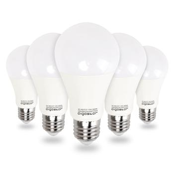 цена на Aigostar - LED bulb A60 E27 12W, equivalent to 100W ,  3000K, 984 lumens, CRI≥80Ra, 280°,not dimmable,pack of 5 units