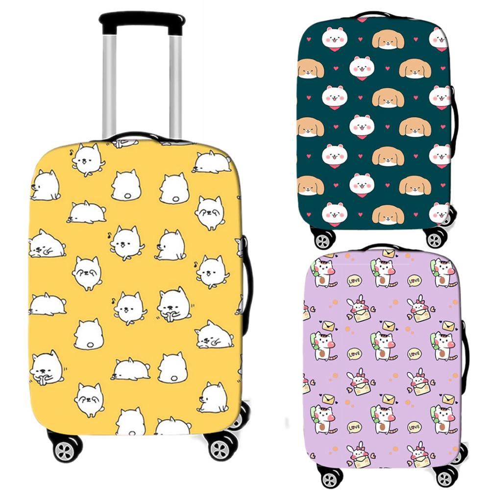 Kawaii Animal Luggage Case Protective Cover Thicken Elastic Suitcase Case Apply 18-32 Inch Women Waterproof Travel Accessories