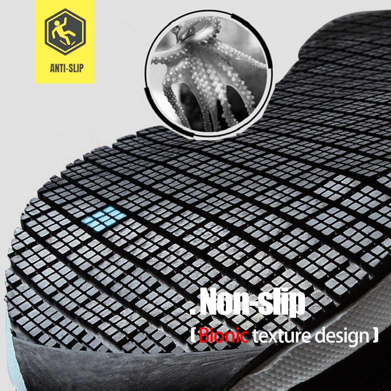 MODYF erkek Siyah İş Güvenlik Ayakkabıları Çelik Ayak Erkekler Için Anti-smashing Inşaat Ayakkabıları