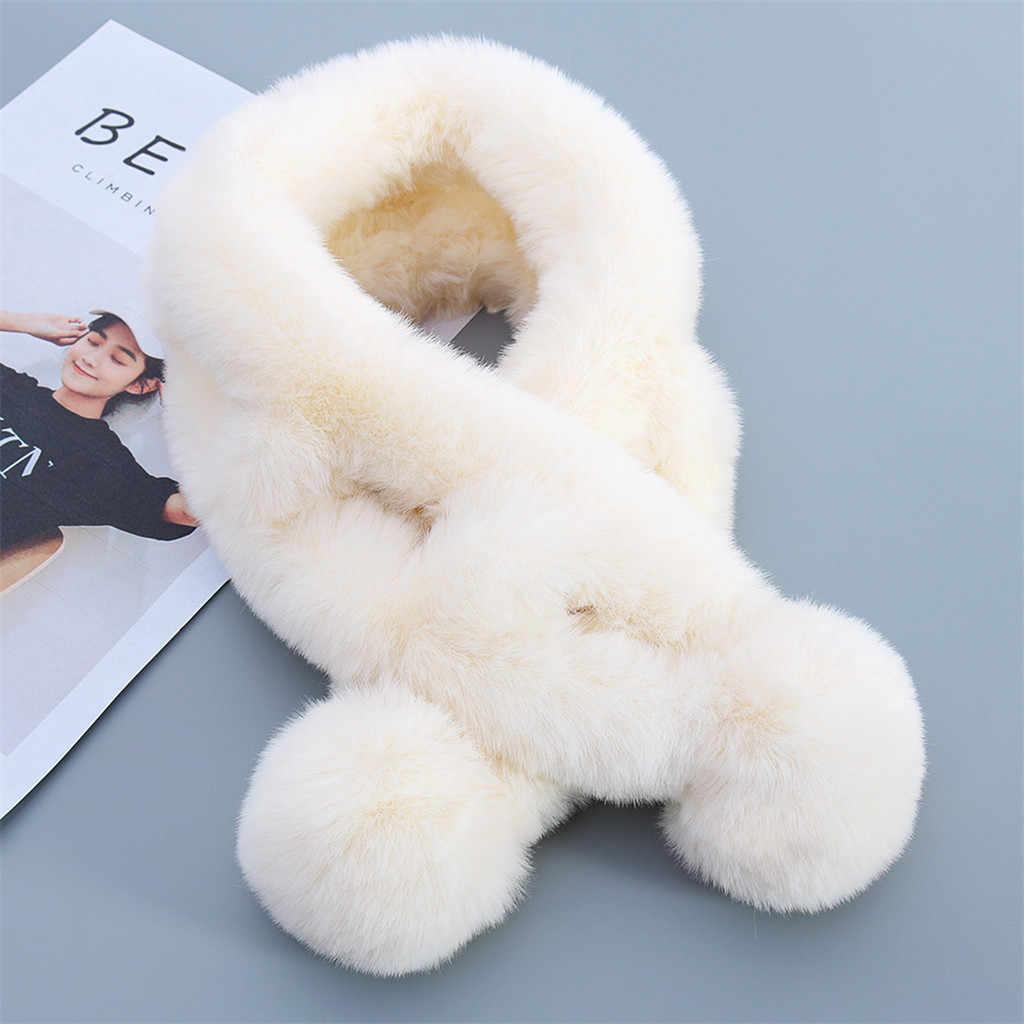 De lujo de las mujeres de piel de invierno cuello 2019 redecilla costura bufanda ropa babero chaqueta de piel cálida bufanda платок на шею Pañuelo Mujer