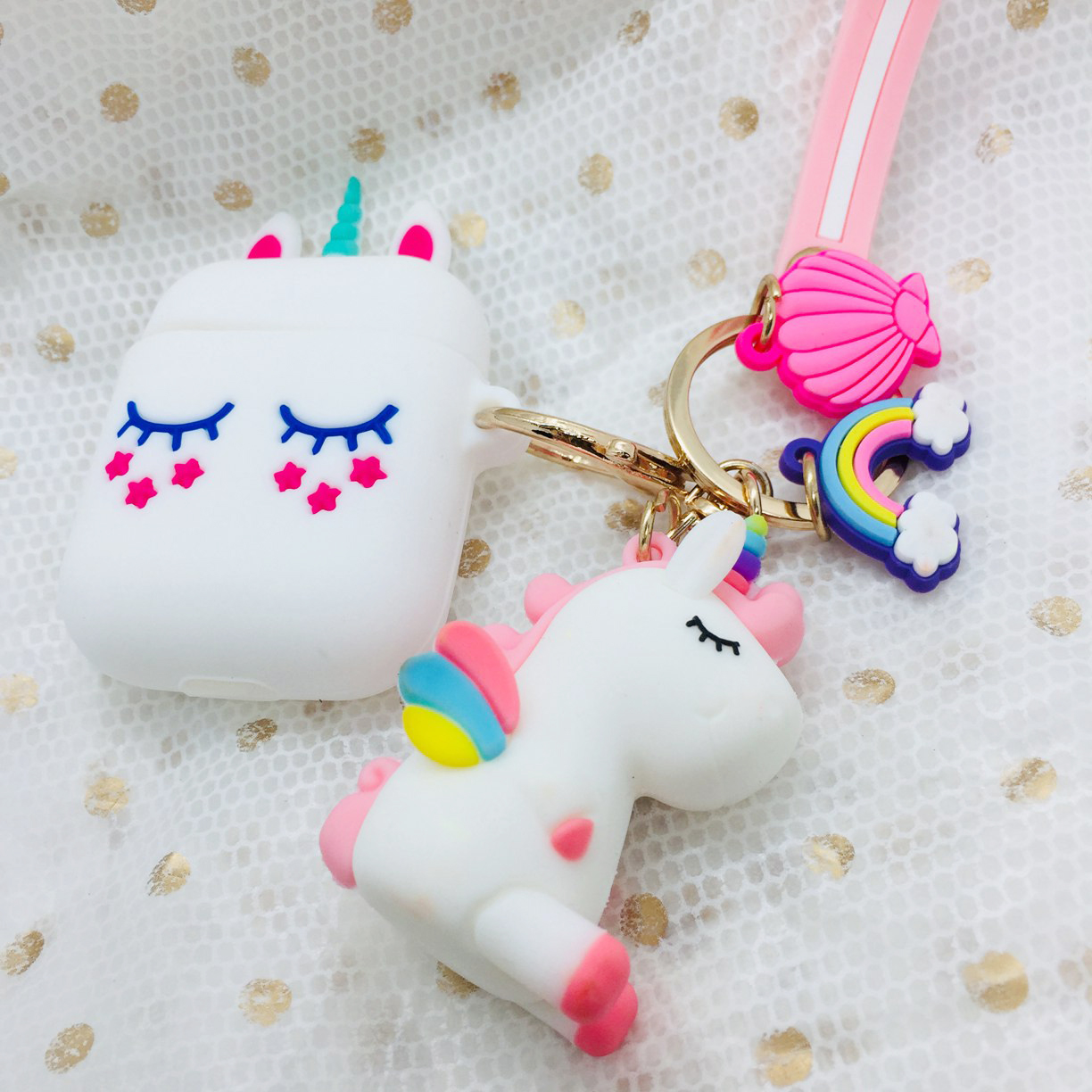 For airpods Case Cute Cartoon with lanyard Case For airpods 2 silicon Cover Wireless Earphone Case For air pods 2 airpods case