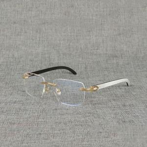 Image 1 - Vintage Natural Wood Clear Glasses Buffalo Horn Oversize Rimless Eyeglasses Frame for Men Reading Optical Square Women Glasses