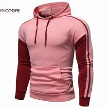 2019 New Arrival Fahshion Mens Sweatshirt Autumn Patchwork Pullover Hoodies
