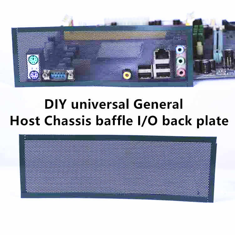 I/O shield back plate Chassis bracket of motherboard universal DIY shield backplane PVC PVC Dust Filter For Computer Chassis