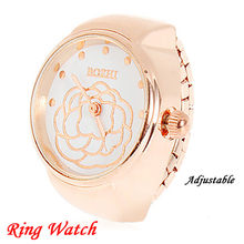 Cloud Flower Dial Couple Ring Watch Creative Steel Cool Elastic Quartz Finger Ring Watch relogio feminino Reloj Mujer Clock(China)
