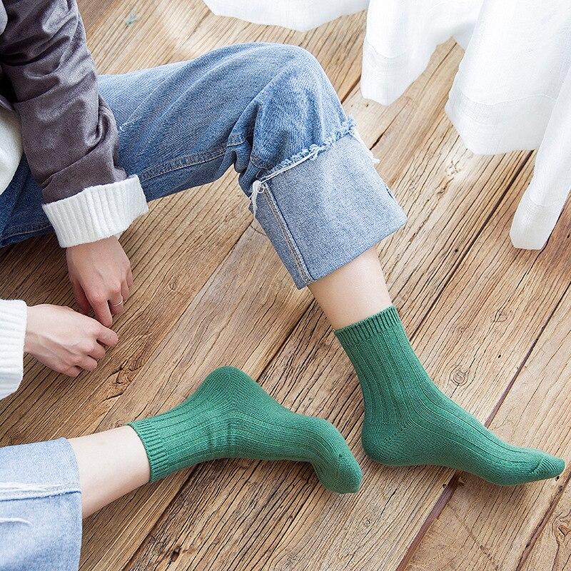 Women Socks Cotton Fashion Candy Color Casual Korean Style Women Cute Sock Girls