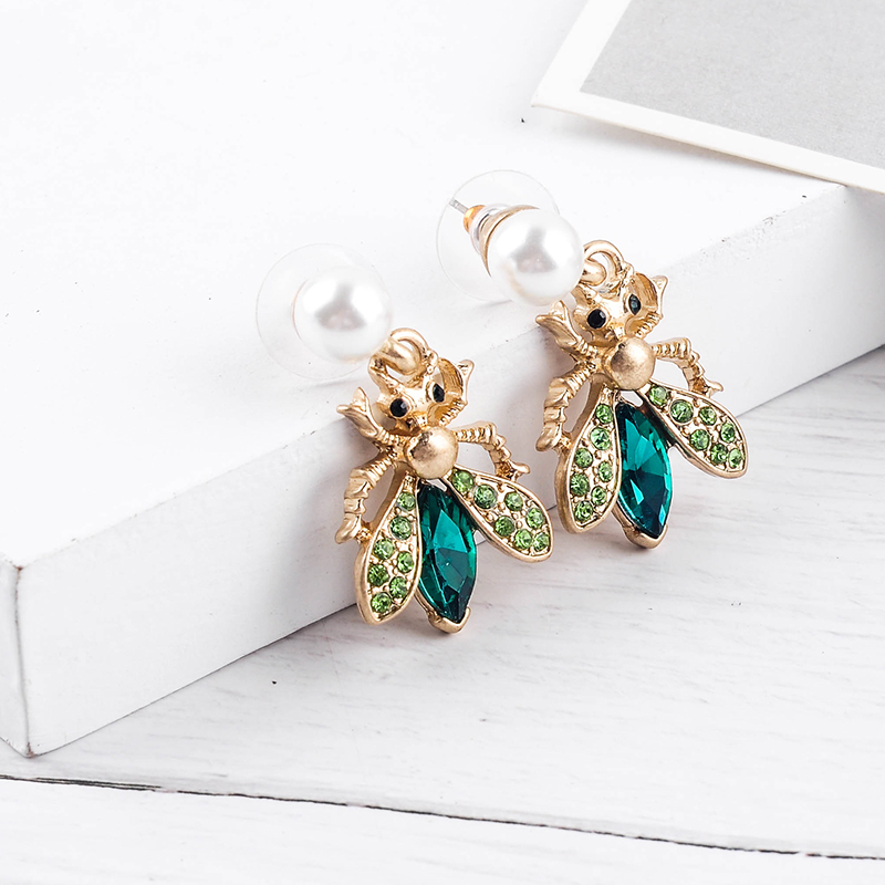 H497ffd5b9c944fd99c15c0bd972501c0v - Bohemia Handmade Crystal 2 Color Insect Drop Earring For Women Wholesale Jewelry Free Shipping