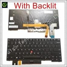 Clavier anglais rétro éclairé, clavier pour Lenovo Thinkpad E480 E485 L480 L380 T490 E490 E495 L490 T495 yoga L390 T480S P43S 01YP360 US