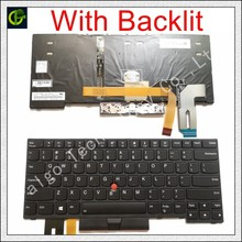Английская клавиатура с подсветкой для Lenovo Thinkpad E480 E485 L480 L380 T490 E490 E495 L490 T495 yoga L390 T480S P43S 01YP360 US