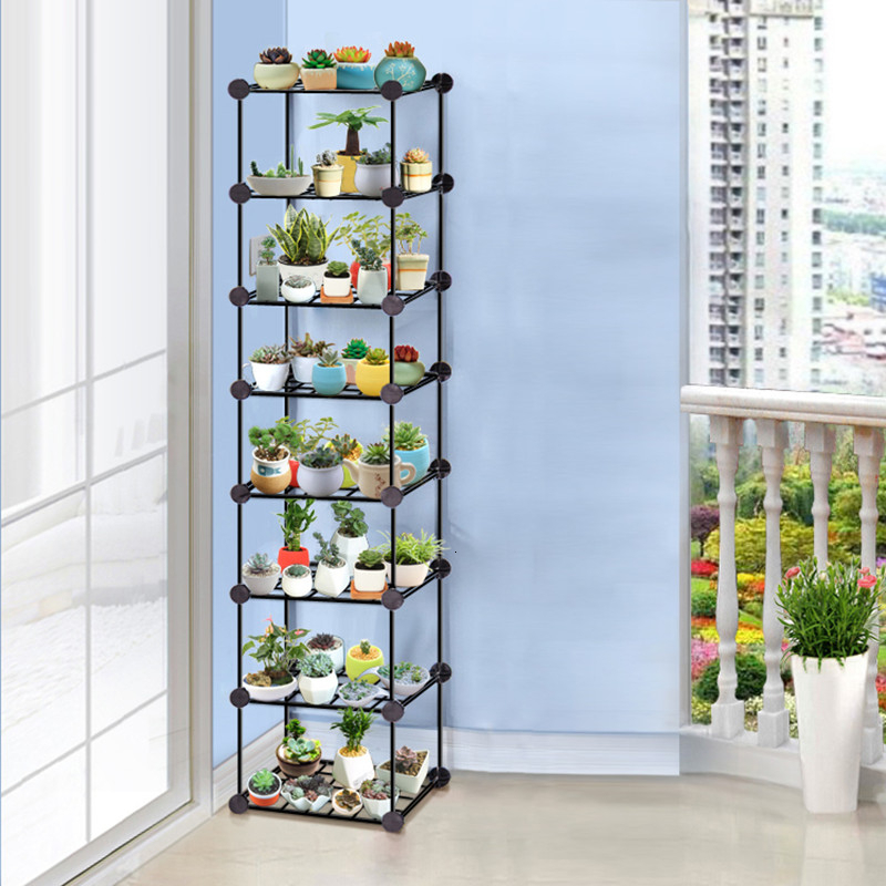 Assemble Disassembly And Assembly Many Function Shelf Originality Balcony Flower Rack