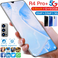 Global Version R4 Pro+ 6.6 Inch Smartphone 5G Network Mobile Phone 5000mAh Dual Card 32MP Deca Core 12G+512G Cellphone