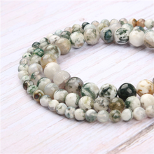 Tree Grain Agate Natural Stone Beads For Jewelry Making Diy Bracelet Necklace 4/6/8/10/12 mm Wholesale Strand