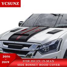 2016-2019 capô da colher da capota para isuzu D-MAX 2016-2018 preto vermelho raptor capô para isuzu D-MAX 2016 2017 2018 2019 ycsunz