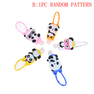Image 5 - Silicone cartoon Owl/Panda/Santa Claus Mini Hand Sanitizer Disposable No Clean Detachable Cover Travel Portable Safe Gel