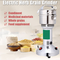 AC 220V 1400W Electric Herb Grain Grinder Cereal Mill Flour Coffee Food Wheat Machine Coffee Grinders