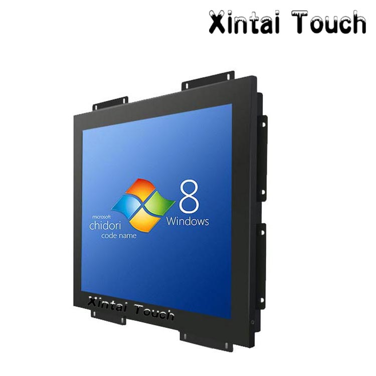 Metal material <font><b>15</b></font> industrial lcd open frame resistive touch screen monitor image