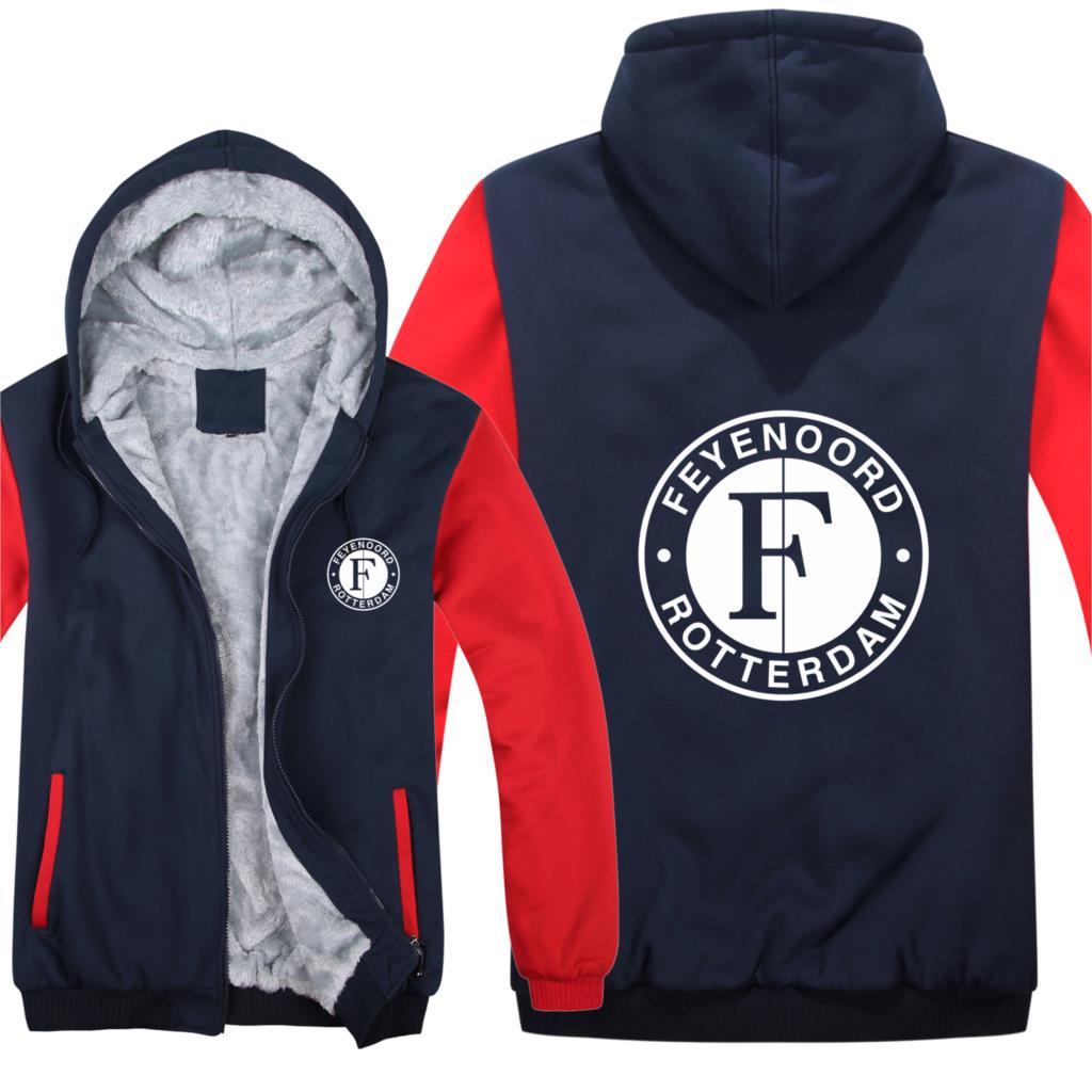 Feyenoord Hoodies Men Fashion Coat Pullover Wool Liner Jacket Feyenoord Sweatshirts Hoody