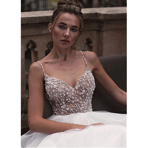 Image 3 - Pluse Size Wedding Dress Sexy V Neck Backless Ball Gown Bridal Dress With Bead wedding Gowns Princess vestido de festa