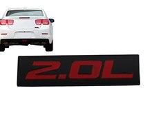 Черный, красный, 2.0L 2,0 L для двигателя, крыла, крышка багажника, наклейка, стикер