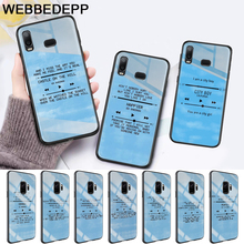 Ed Sheeran Lyrics Pictures Diy Glass Case for Samsung S7 Edge S8 S9 S10 Plus A10 A20 A30 A40 A50 A60 A70 Note 8 9 10 edge ed 206 e2