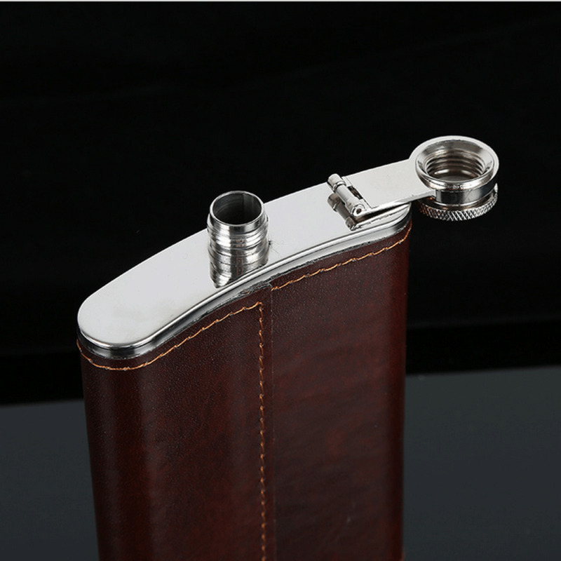Stainless Steel Hip Liquor Whiskey Alcohol Flask Cap 5-10oz Pocket Wine Bottle