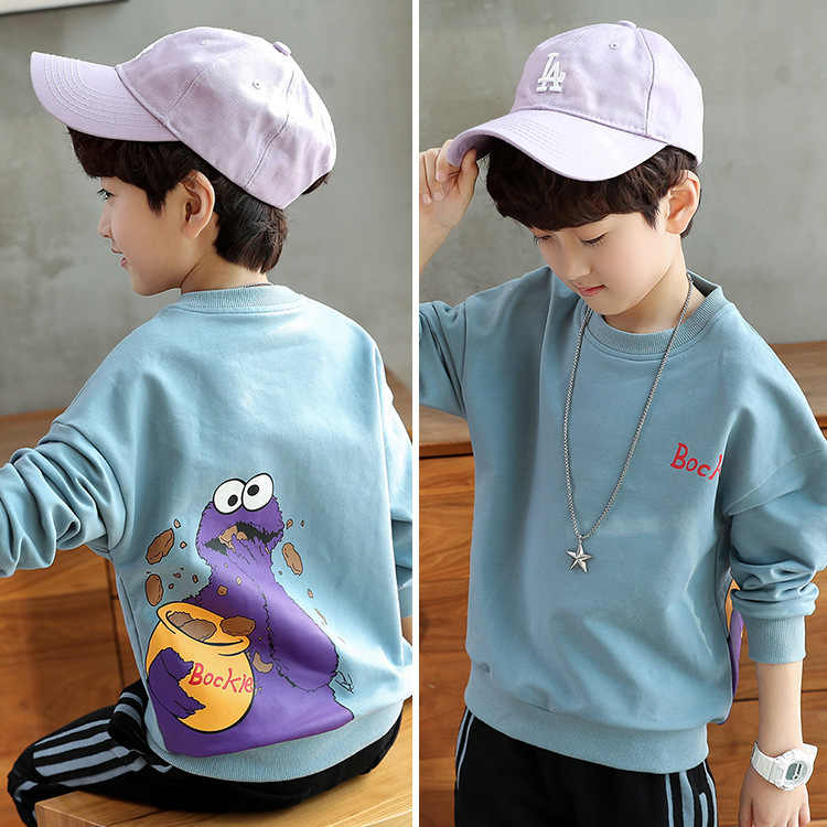 Childrens clothing boys sweater 2019 autumn long-sleeved 4-14 big kids baby boy Sweatshirt vampirina