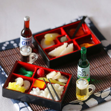 1/6 Scale Dollhouse Mini Japanese Sushi Lunch Box Miniature Toy Doll Food Kitchen Accessories Kids Gift Pretend Play Toy