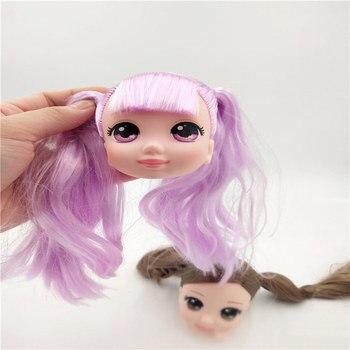 1 pc Rare random Doll head large original head girl princess for Jennyes BJD doll DIY action figure model kid Gift Child Toy 1