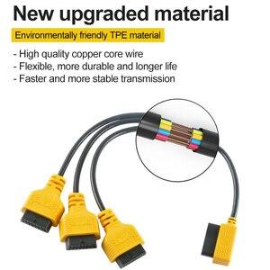 Image 4 - AUTOOL 16Pin Obd2 Verlängerung Kabel 50cm ODB Verlängerung Transfer Kabel OBDII OBD 2 Buchse OBD Stecker 16 Pin Flache stecker