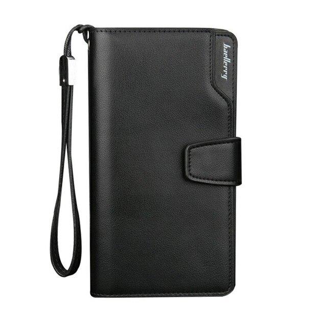 Baellerry marque hommes portefeuilles avec porte-monnaie sac à main décontracté mode fermeture éclair portefeuille hommes affaires porte-carte mâle pochette sac dargent