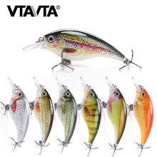 VTAVTA 6cm 10g Rattling Crankbaits Fishing Lures Wobblers For Pike Fishing Tackle Lure Minnow Hard Bait Artificial Black Minnow