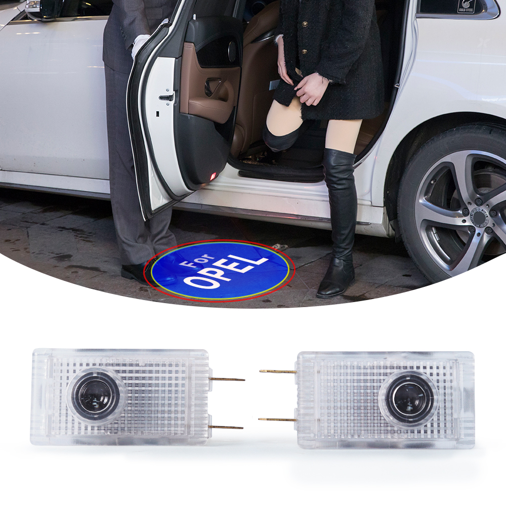 M&C For Opel 1PC Car Door LED Welcome Courtesy Light Laser Shadow Light Projector Ambient Lamp Door Logo Car Accessories