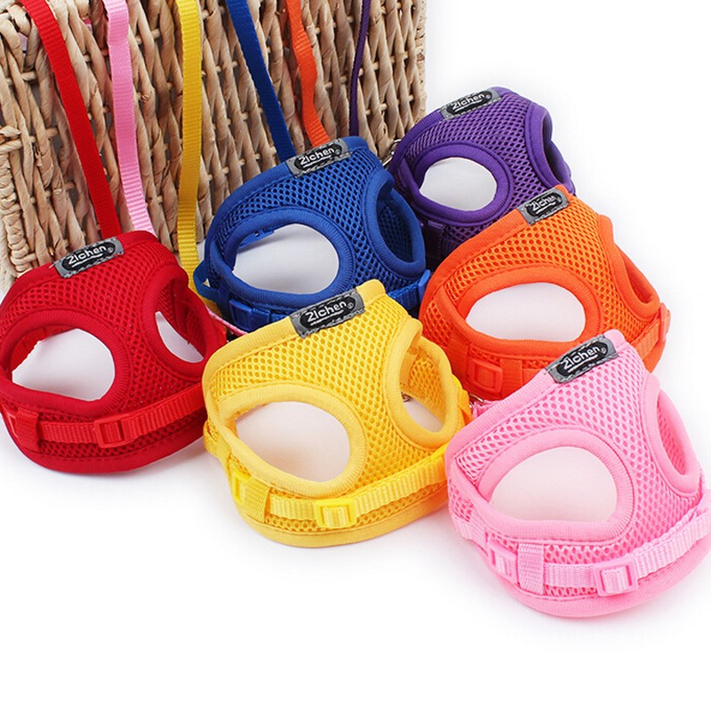 Soft Dog Harness Leash Set Mesh Breathable Adjustable Pet Harness for Small Medium Pets Cats Leashes Vest  Pet Accessories
