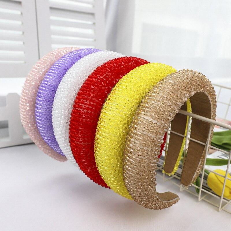 Headband para as Mulheres de Luxo Nupcial do Casamento Acessórios para o Cabelo Fértil Barroco Cristal Strass Hairband Hoop Cabelo