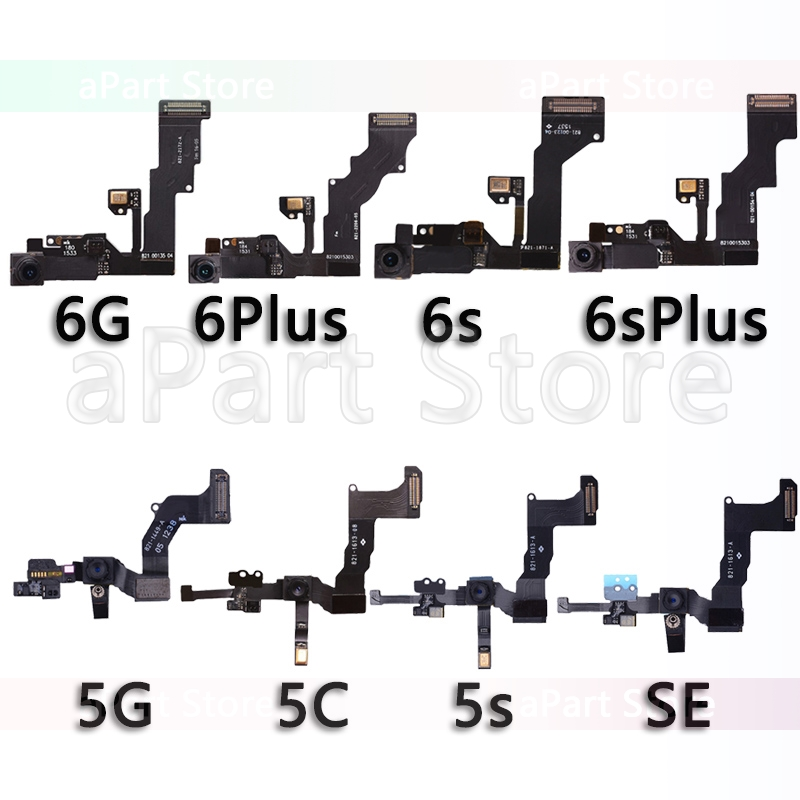 Original Front Camera Flex For iPhone 5 5S 5C SE 6 6s Plus Right Proximity Sensor Face Front Camera Flex Cable Replacement image