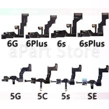 Original Vorne Kamera Für iPhone 5 5S 5C SE 6 6s Plus Rechts Proximity Sensor Gesicht Vorne Kamera flex Kabel mit Halterung