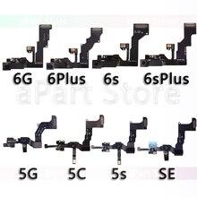 ด้านหน้ากล้องสำหรับ iPhone 5 5S 5C SE 6 6s Plus ขวา Proximity Sensor Face กล้องด้านหน้า flex พร้อม Bracket
