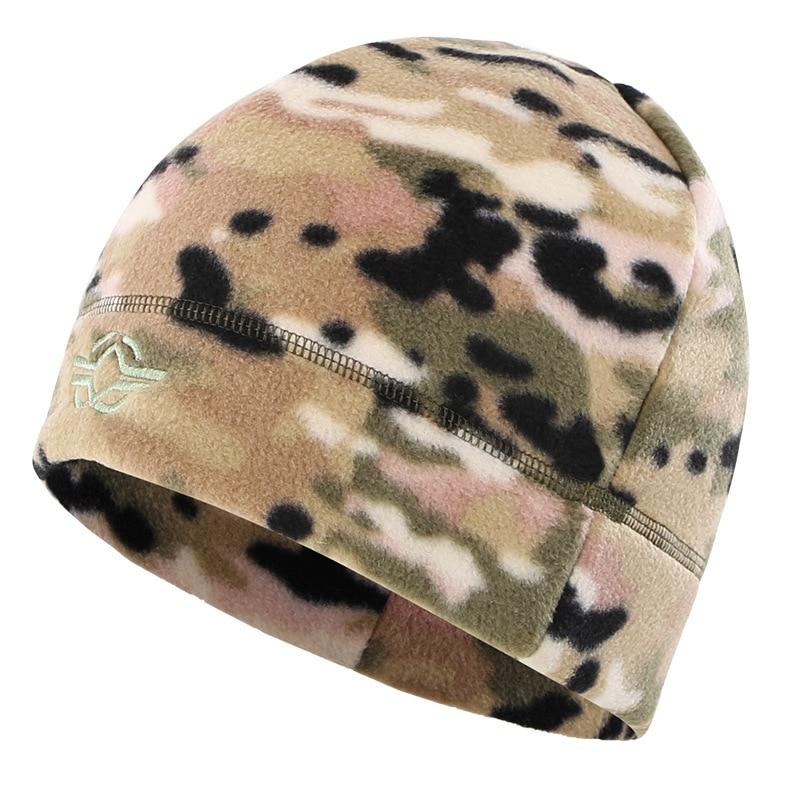 56-60 см уличная тренировочная камуфляжная Тепловая ветрозащитная флисовая шапка мужская зимняя велосипедная походная охотничья Толстая теплая армейская тактическая шапка - Цвет: CP