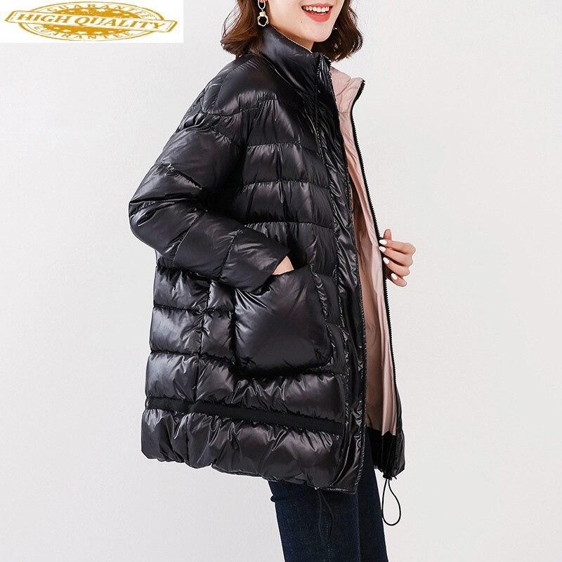 90% White Duck Down Jacket Fashion Winter Coat Puffer Womens Down Jacekts Plus Size 2020 Piumino Donna WFWZ83W06 KJ3676