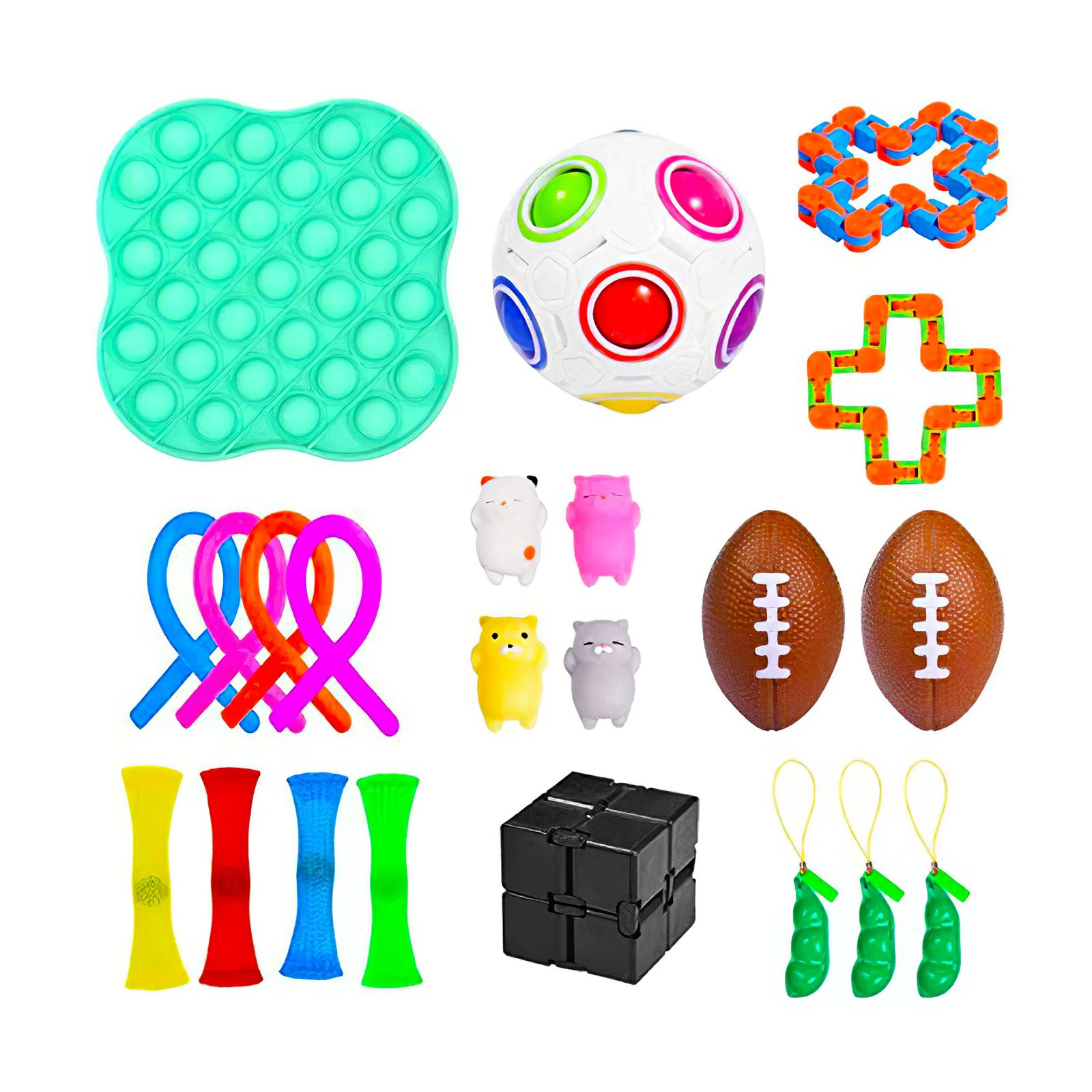 25Pcs/Pack Fidget Sensory Toy Set Stress Relief Toys Autism Anxiety Relief Stress Pop img3