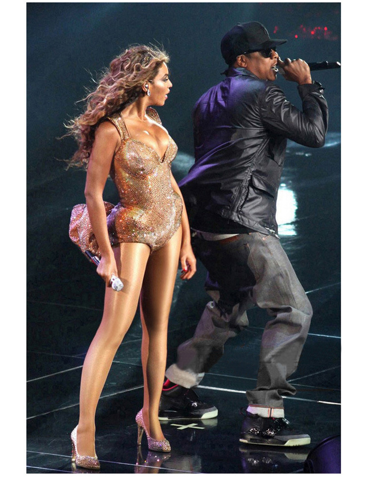 Jazz-Dance-Costumes Singer Female Thick Beyonce-Performance Stockings Pantyhose Stage title=