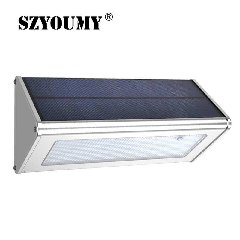 SZYOUMY 48LEDs Light 1000lm Garden LED Solar Lamp With Microwave Radar Motion Sensor Waterproof IP65 For Street Outdoor
