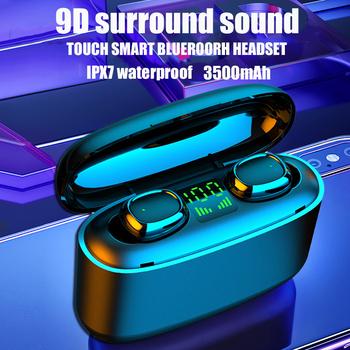 G5S TWS Mini słuchawki Bluetooth słuchawki biznesowe wodoodporne słuchawki IPX7 sportowe słuchawki dla xiaomi huawei iphone bezprzewodowe słuchawki tanie i dobre opinie CHUJIE Dynamiczny wireless 114±3dBdB Nonem Do Gier Wideo Dla Telefonu komórkowego Słuchawki HiFi Typ linii Instrukcja obsługi