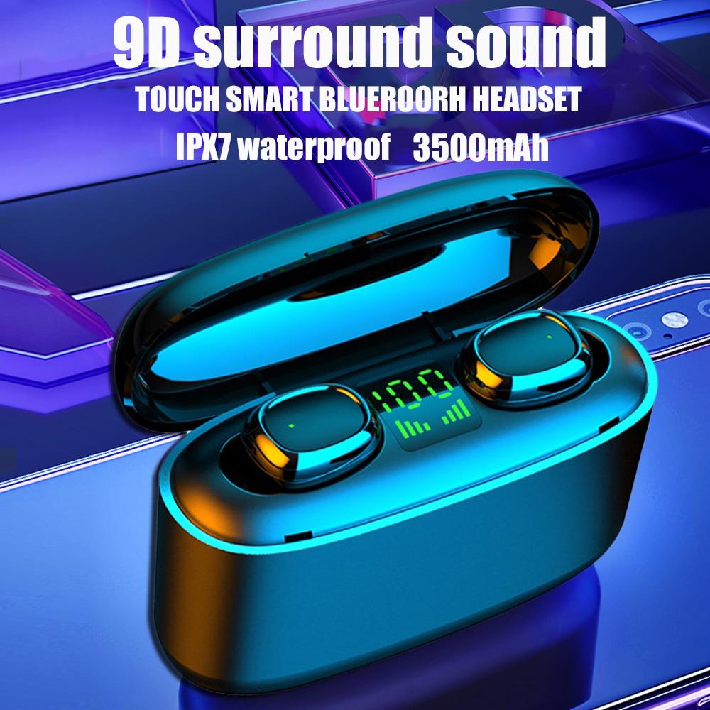 Écouteurs sans fil Bluetooth, G5S TWS pour Xiaomi Huawei, iPhone, oreillettes business, oreillettes de sport, étanches, IPX7