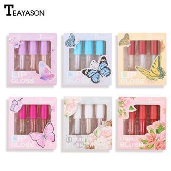 TEAYASON 3Pcs/lot Polarized Lip Oil Moisturizer Long-wearing Blush Highlight Gloss Set High-gloss Brighten Makeup TSLM1