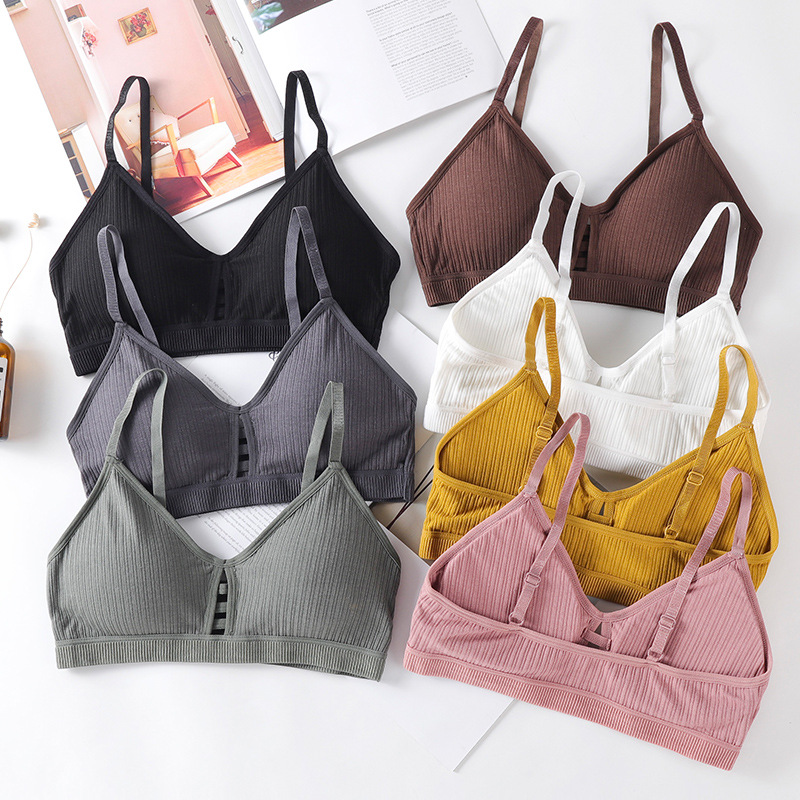 Hollow Out Women Tube Top Sexy Lingerie Seamless Wireless Bra Crop Top Cotton Bralette Comfort Underwear Intimates